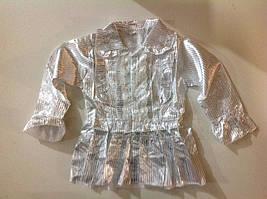 Школьная белая блузка на 5-7 лет, в рост. 3 шт.