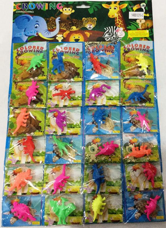 Био-гель Динозаврики   24 шт на листе (цена за лист)