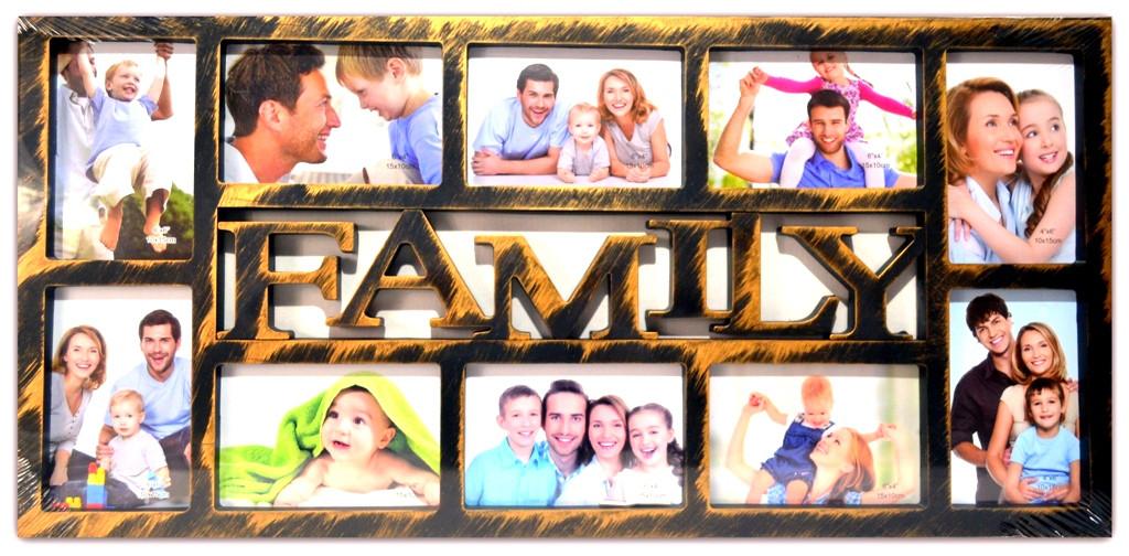 Рамка коллаж на 10 фото FAMILY, (62340B )