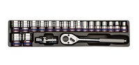 """Головки торцевые (комплект) 1/2"""", 20 пр., 10-32 мм, в ложементе 6 гр."""
