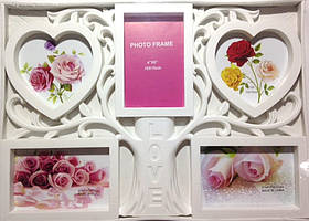 "Рамка коллаж на 5 фото дерево ""LOVE "", 3003-50 (B-5)"