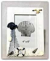 """Фоторамка ручной работы """"Морская №2"""" для фото 10х15 см."""