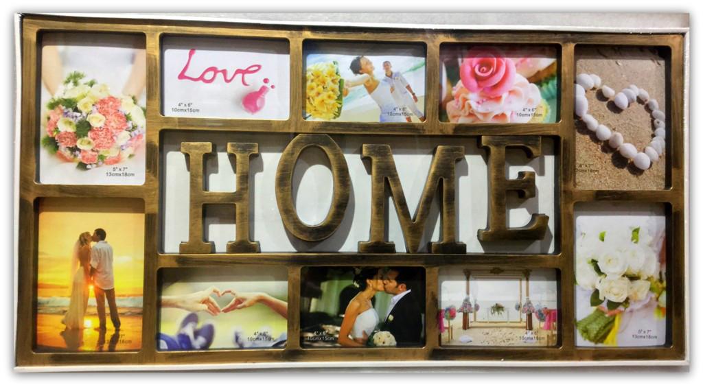 Рамка коллаж на 10 фото HOME, 021-39, (NF-26)