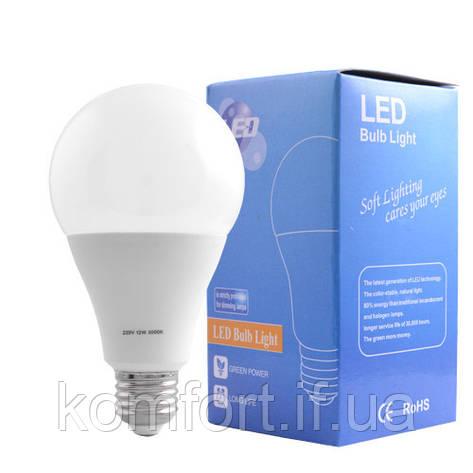 Лампа светодиодная A80 Е27 12W 3000K - 11, фото 2