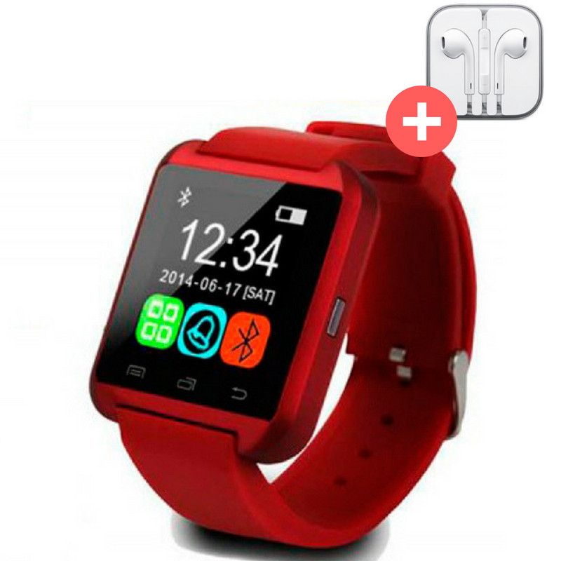 UWatch Умные часы Smart U8. Красная. Red