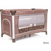 Манеж кровать с пеленатором 4Baby Moderno Brown