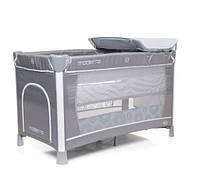 Манеж кровать с пеленатором 4Baby Moderno Grey