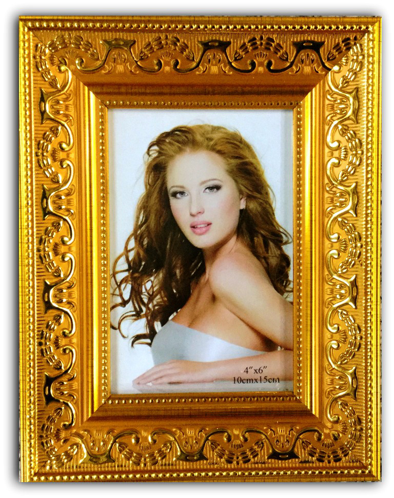 Фоторамка Багетная 10х15 (6002) Цвет: золотой.