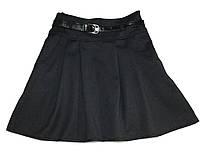 Юбка школьная с поясом и карманами