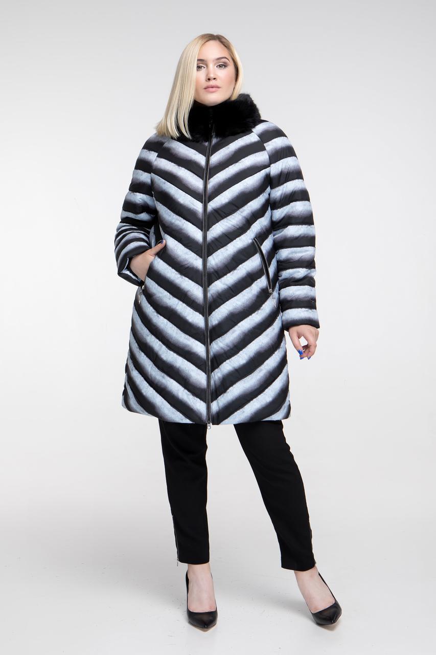 8b954351ef80 Женское зимнее пальто больших размеров, Арт. 681 (р.48-68), цена 2 ...