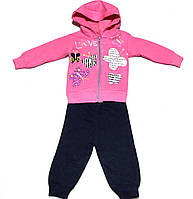 """Теплый костюм двойка """"Бабочки"""" для девочки на 1-3 года, фото 1"""