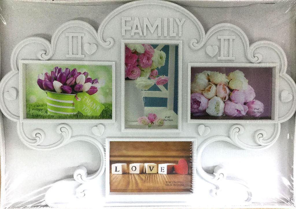 Мультирамка на 4 фото Дерево-FAMILY, (A048)