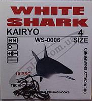 Крючок рыболовный / KAIRYO / №4 / White Shark