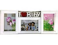 Мультирамка на 3 фото Baby