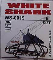 Крючок рыболовный / WS-0019 / №8 / White Shark