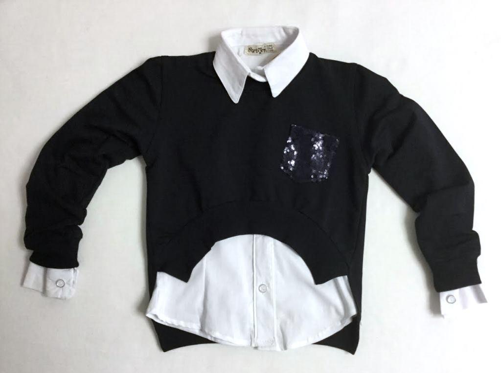 Школьная блузка 2-ка для девочек 6-9 лет