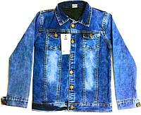 Курточка джинсовая на подкладке 8-12 лет