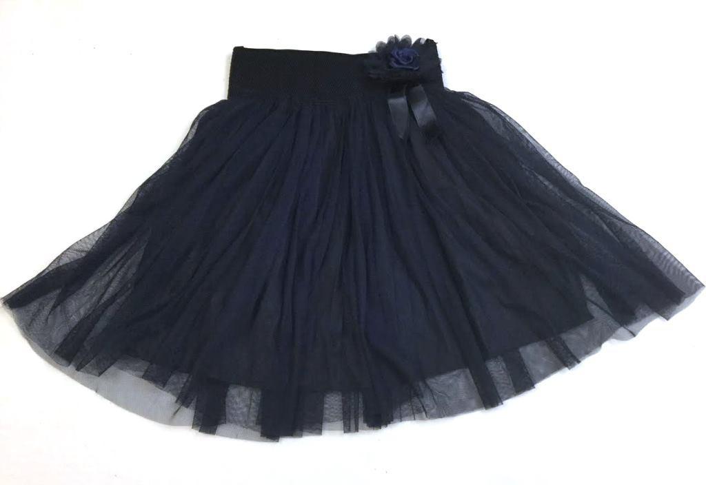 Школьная синяя юбка с фатином на 6-14 лет