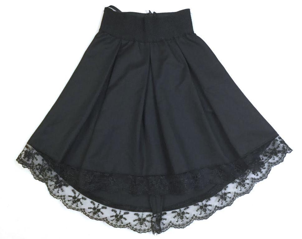 Школьная юбка асимметричный низ на 6-14 лет