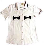Блузка рубашка школьная для девочек 9-12 лет