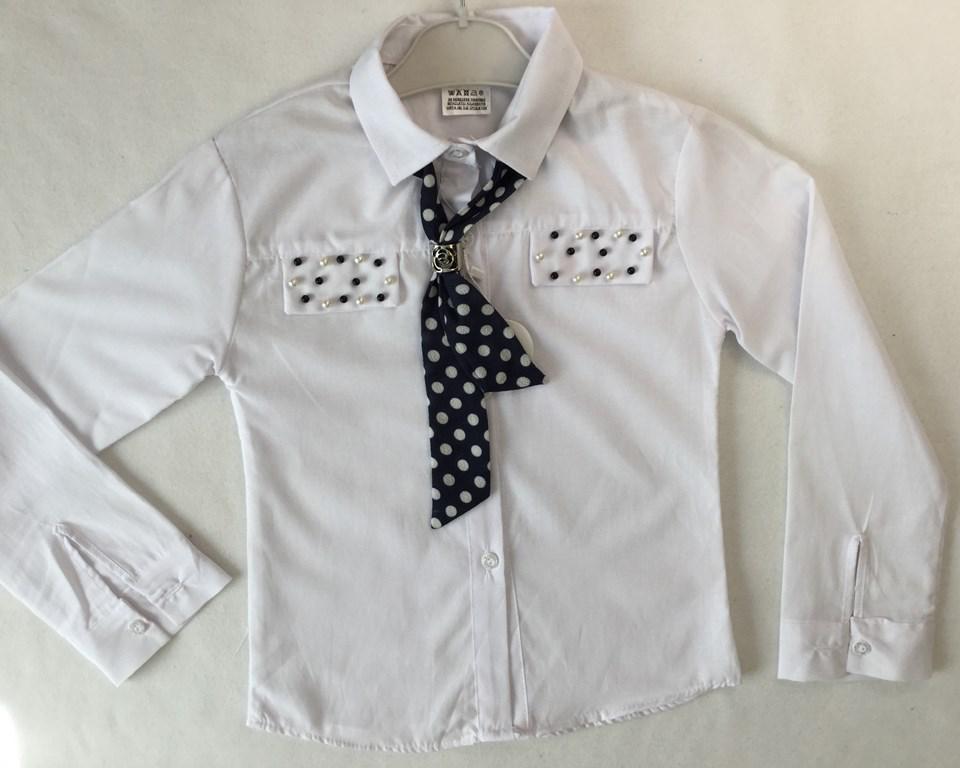 Блузка школьная с галстуком 9-12 лет