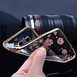 Гламурний розкішний силіконовий чохол для Samsung Galaxy J5 2016 J510 SM-J510H/DS Rose з камінням, фото 2