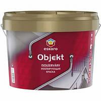 Eskaro Objekt 0,9 л - Матовая водно-дисперсионная латексная краска, Изолирующая краска,