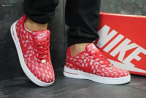 Мужские кроссовки Nike Air Force,красные с белым 41,44р, фото 2