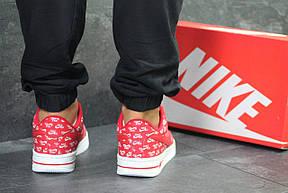 Мужские кроссовки Nike Air Force,красные с белым 41,44р, фото 3