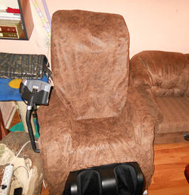Пошив чехла на массажное кресло
