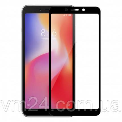 Защитное стекло  Full Glue для Xiaomi Redmi 6 черное .белое черная
