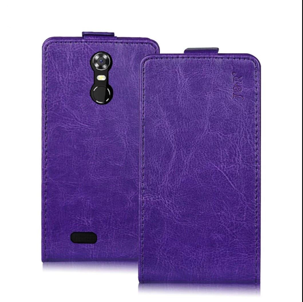 Чехол откидной для Oukitel C8 фиолетовый