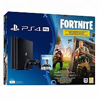 Игровая приставка Sony PlayStation 4 Pro 1TB black + игра Fortnite