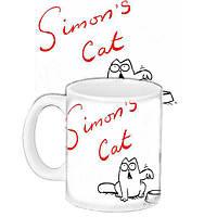 Чашка печать на кружке с принтом Саймонс кэт