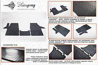 Резиновые коврики (2 шт, Stingray) Premium - без запаха резины - Volkswagen T4 Transporter