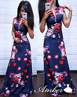 Женское платье Домино в цветы
