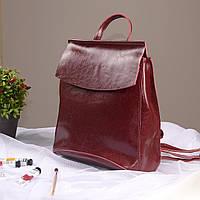 """Женский кожаный рюкзак-сумка(трансформер) """"Анжелика Red"""""""