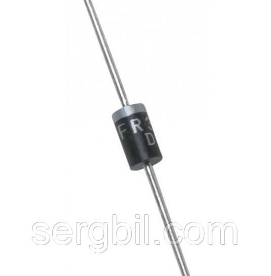 Диод  FR307 DO-201AD  1000В, 3А, кремниевый выпрямительный быстрый