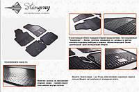 Резиновые коврики (Stingray) 4 шт, Premium - без запаха - Volkswagen Touran 2003-2010 гг.