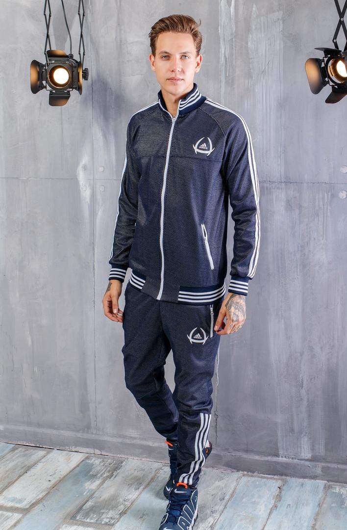 Мужской Спортивный Костюм Adidas Темно-синий Топ Реплика — в ... aa814cf7fdd