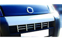 Накладки на решетку радиатора Fiat Fiorino, Qubo 2008- (13 част., нерж.) Carmos