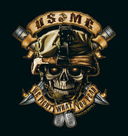 Футболка  черная BLACK INK USMC WE FIGHT WHAT YOU FEAR ROTHCO