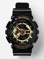 Стильные часы спортивные  CASIO G - SHOCK GA 110 Black Gold(реплика)