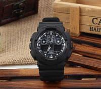 Стильные Мужские часы Casio G-Shock GA 100 black(реплика)