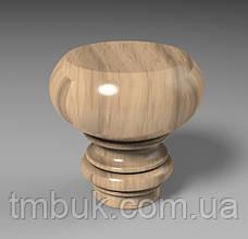 Круглая точеная ножка из дерева для пуфика, кресла, дивана, тумбочки, шкафа, мягкой мебели. 130 мм., фото 2