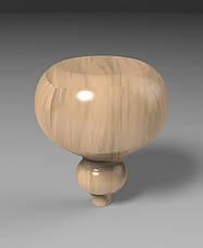 Ножка круглая гладкая деревянная точеная. Опора для тумбы, столика, комода, кровати. 150 мм, фото 3