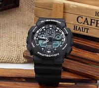 Копия Мужские часы Casio G-Shock GA 100 Black White(реплика)