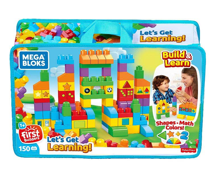 Mega Bloks Конструктор Давайте учиться 150 деталей в сумке FVJ49 Let's Get Learning Building Set
