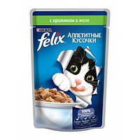 Корм для кішок кролик желе Алюпуч фелікс 100гр