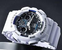 Стильные Мужские часы Casio G-Shock GA 100 White/Black(реплика)